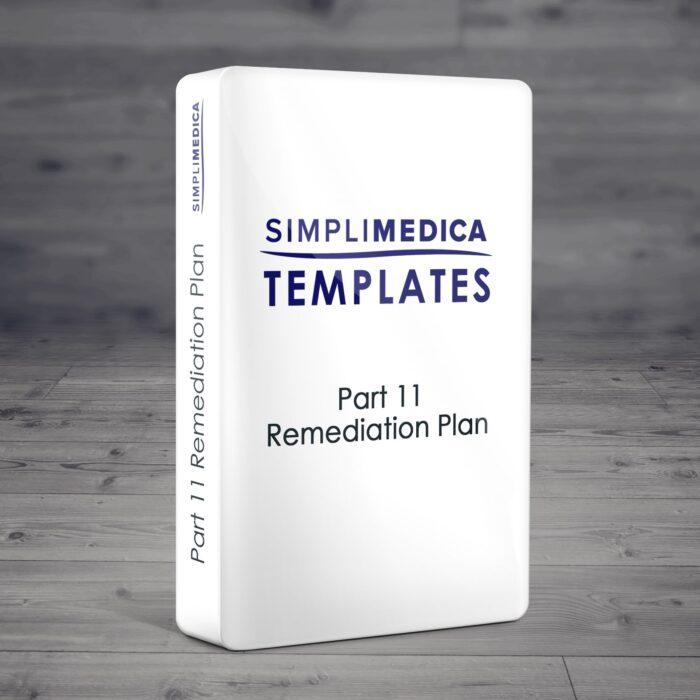 Part 11 Remediation Plan