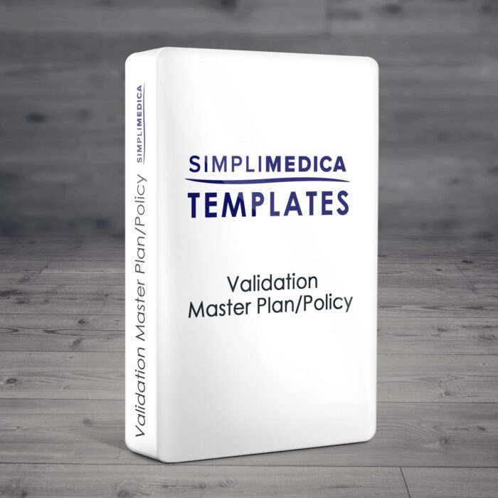 Validation Master Plan/Policy